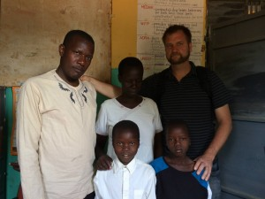 Visiting School Kids in Northern Uganda